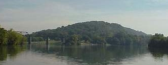 Source of the Tennessee River, to the left the Holston River and to the right the French Broad River